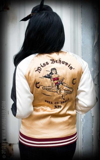 Souvenir Jacket | 2-in-1 Satin Bomber Jacket Krazy Katz