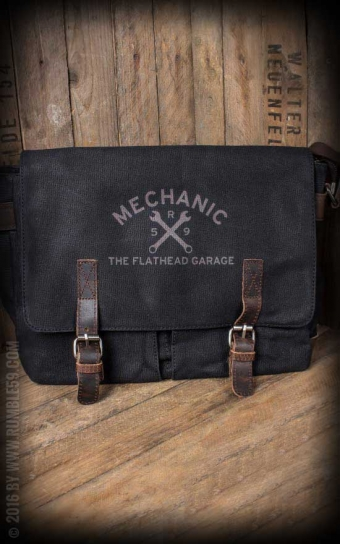 Canvas Workerbag The Flathead Garage - schwarz
