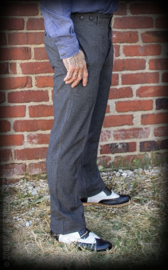 Vintage Slim Fit Pants Providence - grey/black