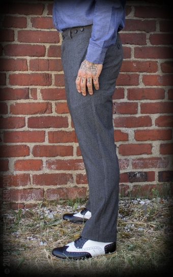 Vintage Slim Fit Pants Providence - grau/schwarz