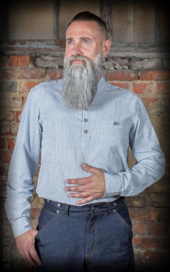 Band collar shirt - Dapper Workman