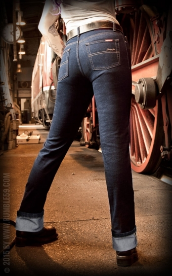 Denim Garage Gal - Straight Cut