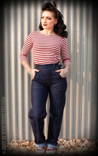 Streifen-Shirt Lets be Audrey! - rot