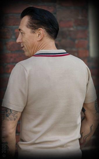Strick-Poloshirt Redmond - beige