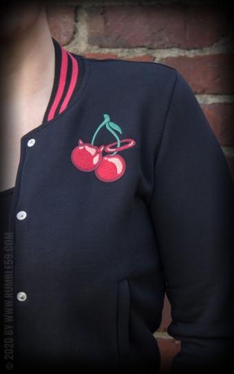 Ladies Sweat College Jacke - Cherry Bomb