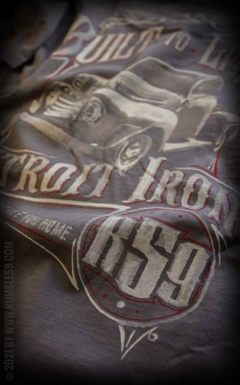 T-Shirt Built to last - Vintage-Wash, taupe