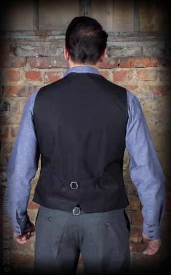Vintage Vest Long Island - grey/black