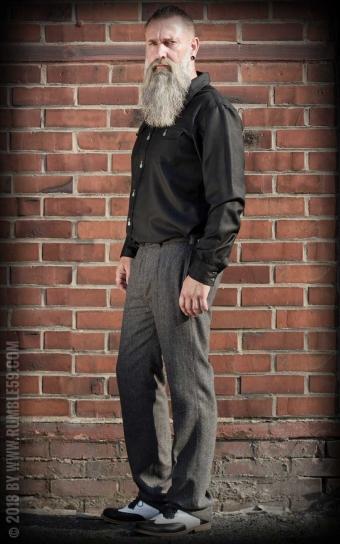 Vintage Slim Fit Pants Pasadena - Chevron gris/noir