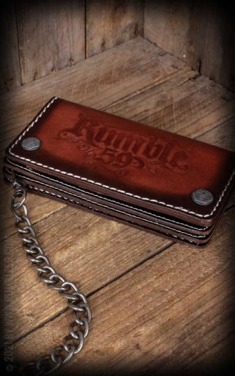 Leather Wallet sunburst handmade