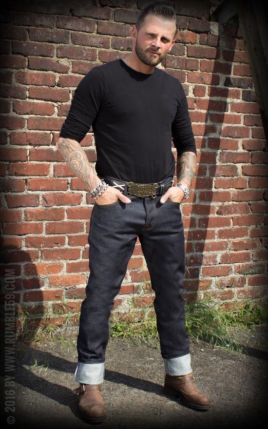 Raw Denim Rockabilly Jeans 58er Rock nRoll Biker Denim Oldschool Straycats Style
