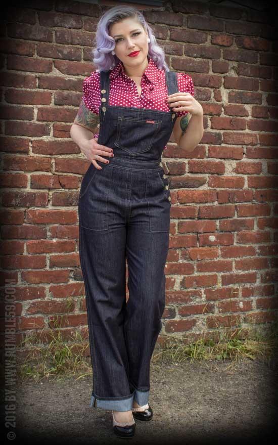 Ladies Jeans Latzhose   Playsuit
