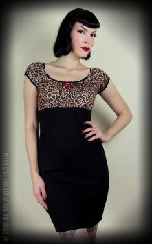 Carmenkleid Hot Leopard