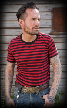 Striped Shirt - black/ red