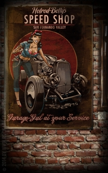 Poster - Hotrod Bettys Speed Shop
