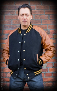 Baseball Jacket - black/brown