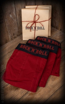 Boxer RnR Until I die - Lot de 3, rouge/noir