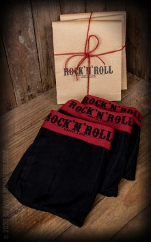 Boxer RnR Until I die - Lot de 3, noir/rouge