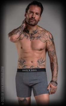 Boxer RnR Until I die - gris/noir