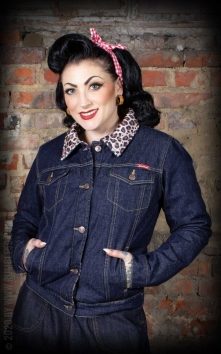 Female Denim Jacket with leo lining