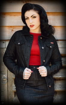 Ladies Denim Jacket - noir