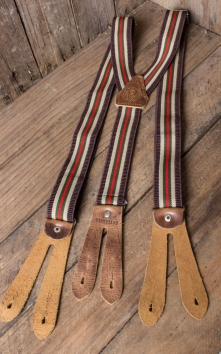 Suspenders - colour combination brown