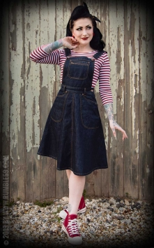 Denim Latzkleid Rocking Rosie
