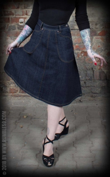 Denim Skirt Rocking Rosie