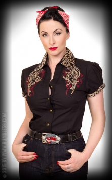 Blouse Heaven n Hell - leo patch