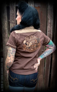 Chemise The Woodie Garage - marron