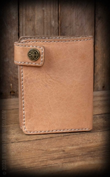 Leather Wallet Natural - compact size