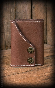 Leather Wallet TTripartite - compact size