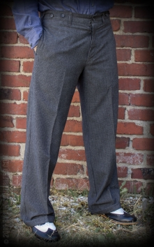 Vintage Loose Fit Pants New Jersey - black/grey