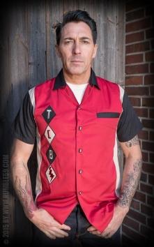 Lounge Shirt TCB-Diamonds - rouge