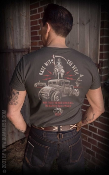 T-Shirt Race with the devil - Vintage-Wash, taupe