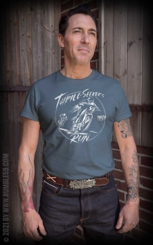 T-Shirt Thrill-Seekers Run - Vintage-Wash, bleu