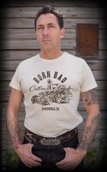 T-Shirt Born Bad - offwhite