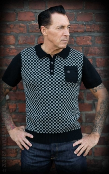 Knitted Polo Shirt Indianapolis - grey