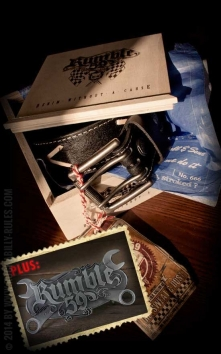 Set Ledergürtel Brando schwarz+Buckle Wild Wrench