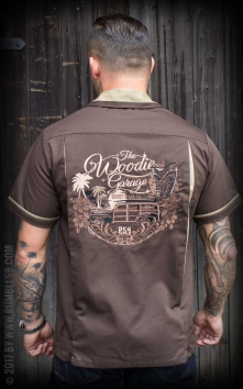 Bowling Shirt The Woodie Garage - brown