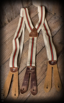 Suspenders colour combination beige