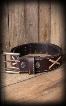 Leather belt Marlon Brando, brown