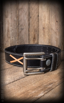 Leather belt Marlon Brando, black