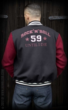 Male Sweat College Jacket - RnR until I die