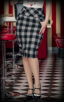 High Waisted Pencil Skirt - plaid