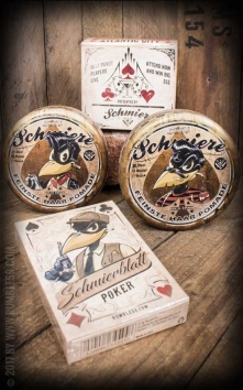 Schmiere 2er Set Poker Pomade mit Pokerblatt