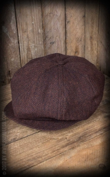Slugger Cap - Herringbone brown/blue