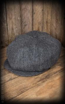 Slugger Cap | Schiebermütze - Fischgrat grau/schwarz