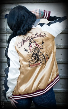 Souvenir Jacket | 2-in-1 Satin Bomber Jacket Hells Belles