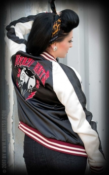 Souvenir Jacket | 2-in-1 Satin Bomber Jacket Krazy Katz