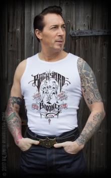 Tank Top Herren Backyard Boxing, weiß